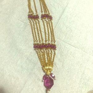 Purple Stone Elegant Necklace
